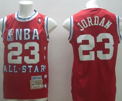 promo code 73a4a 9079e 1992 All Star Mitchell And Ness Bulls #23 Michael Jordan Red ...